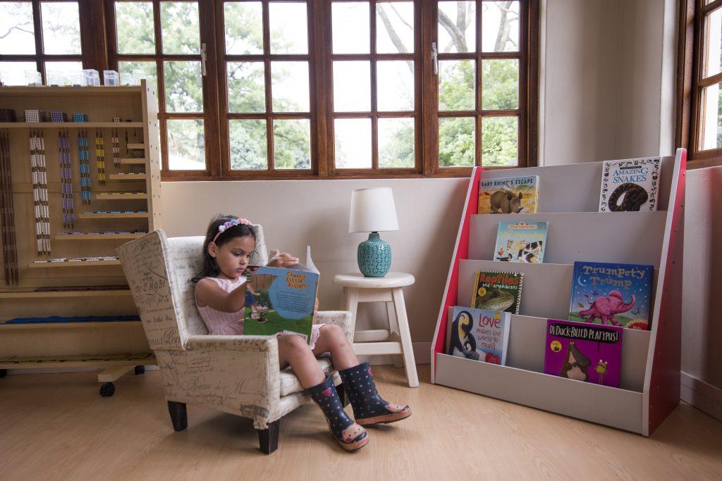 girl at Casa Library